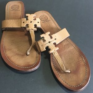 Tory Burch Brown Leather Sandals size 9.5